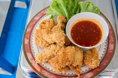 Fried shrimp cake, thai street food ` Tod man kung`.image for advertisement and menu list. royalty free stock photos
