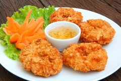 Fried shrimp cake Royalty Free Stock Image