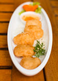 Fried shrimp cakes thai food Stock Image
