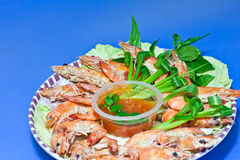 Fried shrimp Royalty Free Stock Images