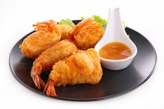 Fried shrimp Royalty Free Stock Photos