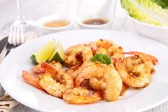Fried shrimp Royalty Free Stock Images