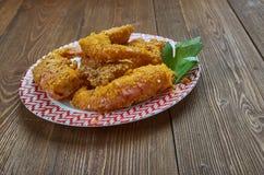 Fried Shrimp créole images libres de droits