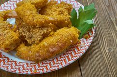 Fried Shrimp crioulo foto de stock