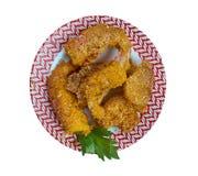 Fried Shrimp crioulo foto de stock royalty free