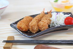 Fried shrimp and croquette Royalty Free Stock Photo