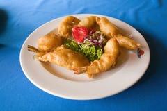 Fried shrimp dish Royalty Free Stock Image