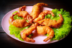 Fried shrimp Royalty Free Stock Photography