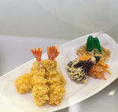 The fried shrimp japanese food model Royalty Free Stock Images