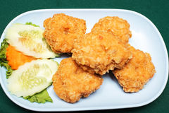 Fried shrimp meat Royalty Free Stock Image