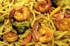 Fried shrimp noodles Royalty Free Stock Image