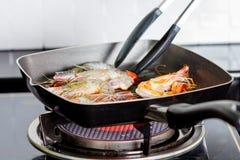 Fried shrimp Royalty Free Stock Photos