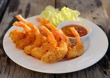 Fried Shrimp para o aperitivo fotografia de stock royalty free