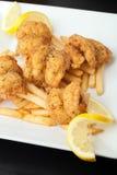 Fried Shrimp Platter Stock Photo