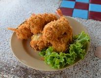 Fried shrimp prawn balls Stock Images