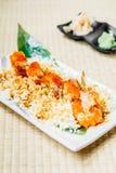 Fried shrimp or prawn tempura sushi Royalty Free Stock Photo