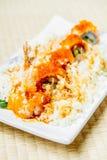 Fried shrimp or prawn tempura sushi Stock Photo