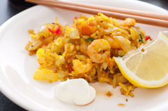 Fried Shrimp Rice Stock Images
