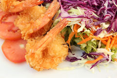Fried shrimp salad Stock Photography