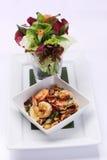 fried shrimp with salad Stock Photo