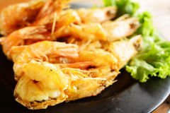 Fried Shrimp with salt Royalty Free Stock Photography