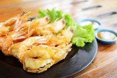 Fried Shrimp with salt Royalty Free Stock Photos