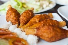 Fried Shrimp with Sugar Cane Stock Photos