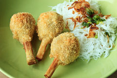 Fried shrimp with sugarcane - Vietnamese food Royalty Free Stock Photo