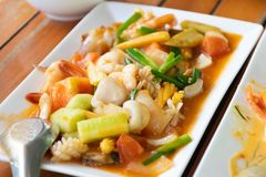Fried Shrimp with Sweet and Sour Shrimp royalty free stock image
