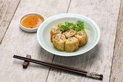 Fried shrimp tofu skin rolls Stock Image