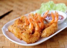 Fried Shrimp voor voorgerecht stock foto