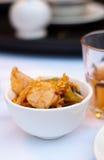 Fried Shrimp With Yolk Stock Image