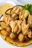 Fried shrimp wontons Royalty Free Stock Image