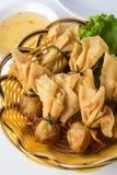 Fried shrimp wontons Royalty Free Stock Photos