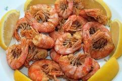 Fried shrimps Royalty Free Stock Photos