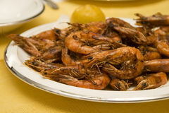 Fried Shrimps Royalty Free Stock Image