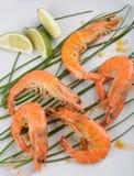 Fried shrimps Stock Images