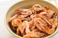 Fried shrimps Stock Photo