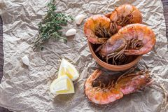 Fried shrimps Royalty Free Stock Photography