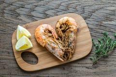 Fried shrimps Royalty Free Stock Image