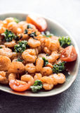 Fried shrimps in plate Stock Image