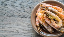 Fried shrimps Stock Photography