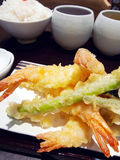 Fried Shrimps set Royalty Free Stock Image