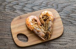 Fried shrimps Royalty Free Stock Images