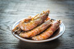 Fried shrimps Royalty Free Stock Photo