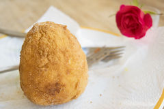 Fried sicilian arancini Stock Images