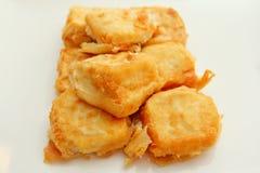 Fried Silken Tofu friável Imagem de Stock