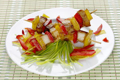 Fried skewers. Stock Images
