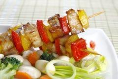 Fried skewers Stock Image