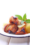 Fried skewers Stock Images